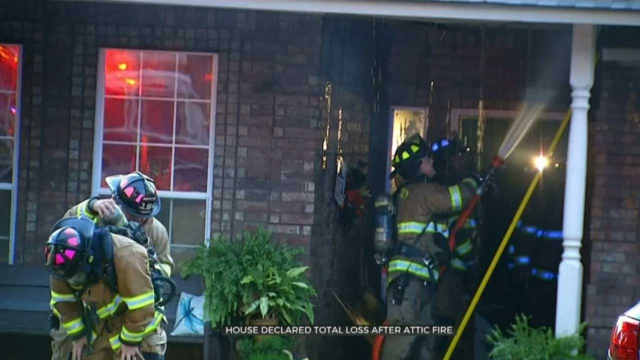 MWC Family Displaced After An Attic Fire Destroys Their Home