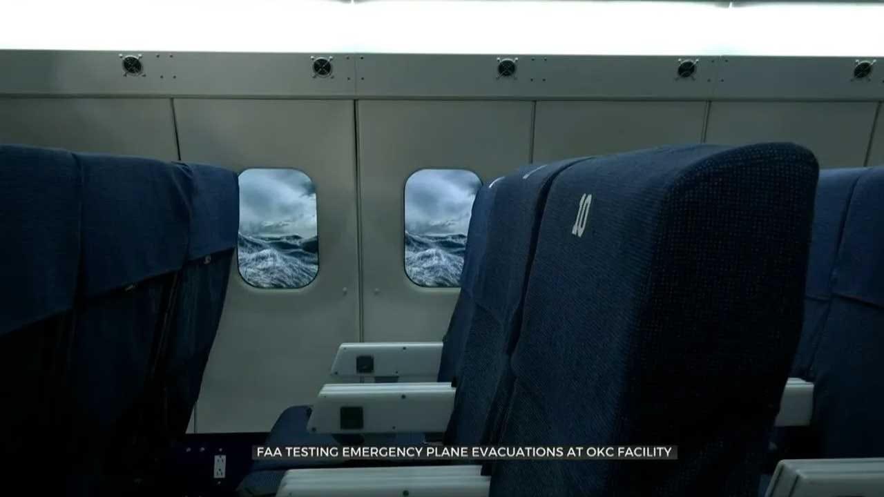FAA Uses OKC Facility To Test Emergency Evacuations On Planes