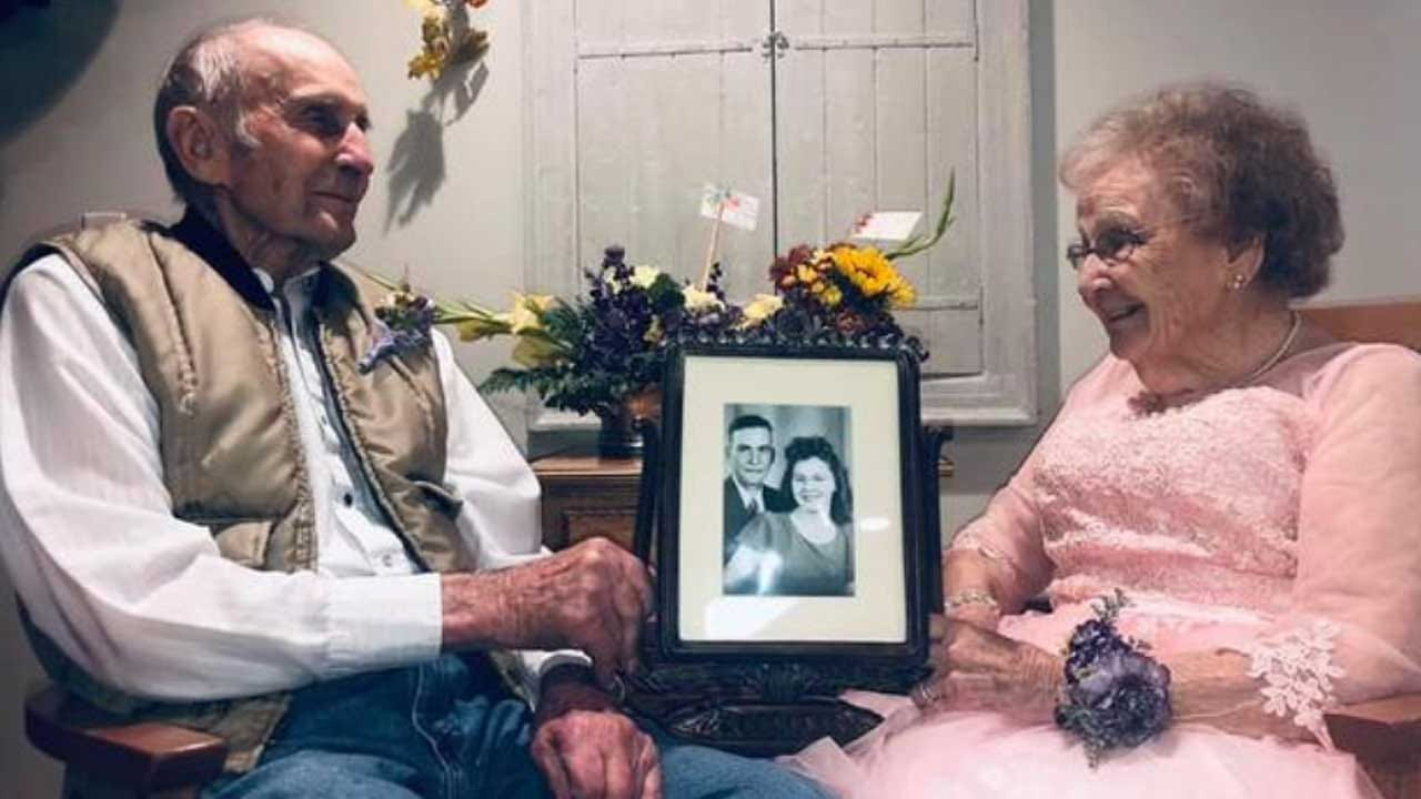 Man Lights Up Seeing Wife Of 72 Years Dressed Up For Their Anniversary Photoshoot