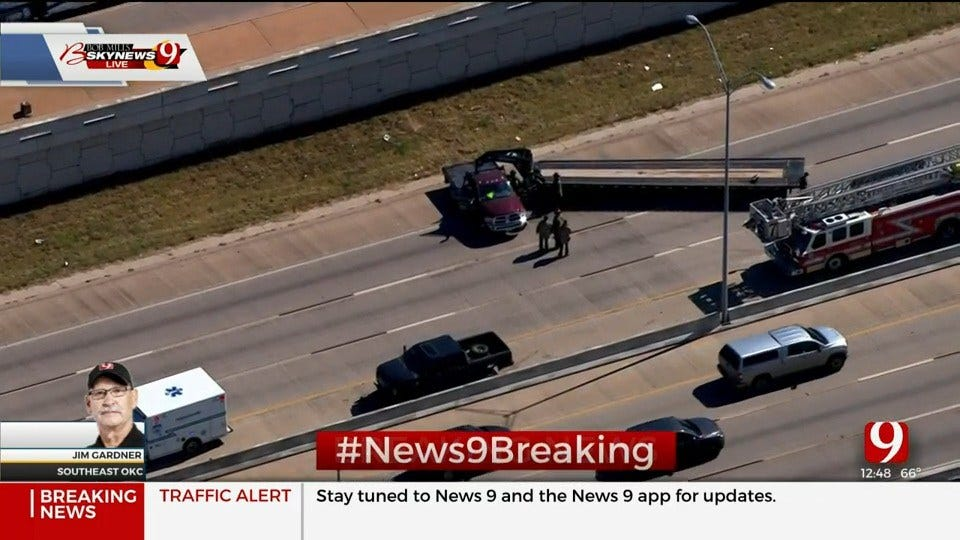 NB Interstate 35 Reopens After Injury Wreck Shuts Down Lanes In S OKC