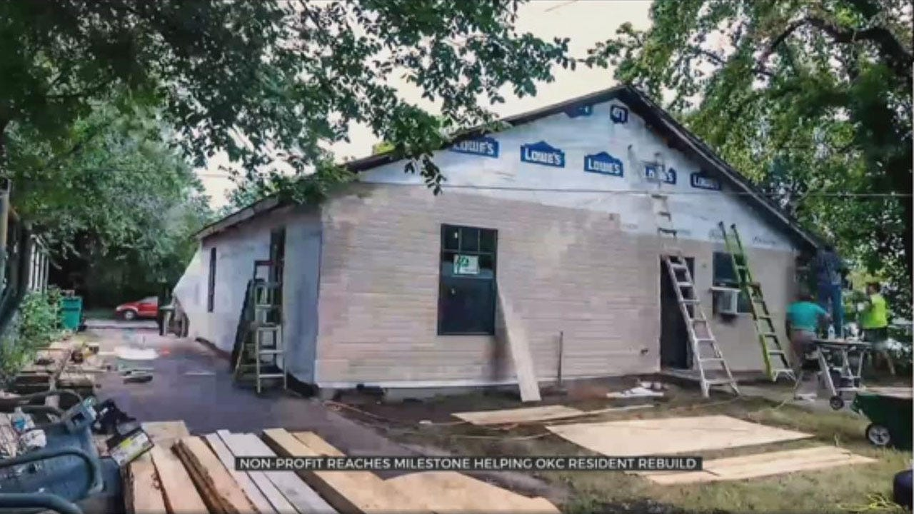 Habitat For Humanity Reaches Milestone By Helping OKC Resident Rebuild Home