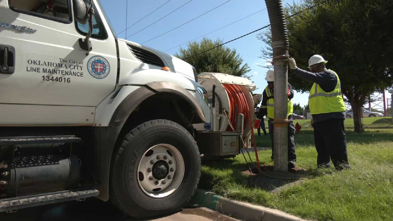 OKC Utility Crews Urge Caution When Flushing, Emptying Items In Drain