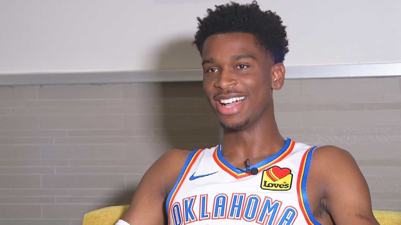 WATCH: Dean Blevins Gets To Know Thunder Point Guard Shai Gilgeous-Alexander