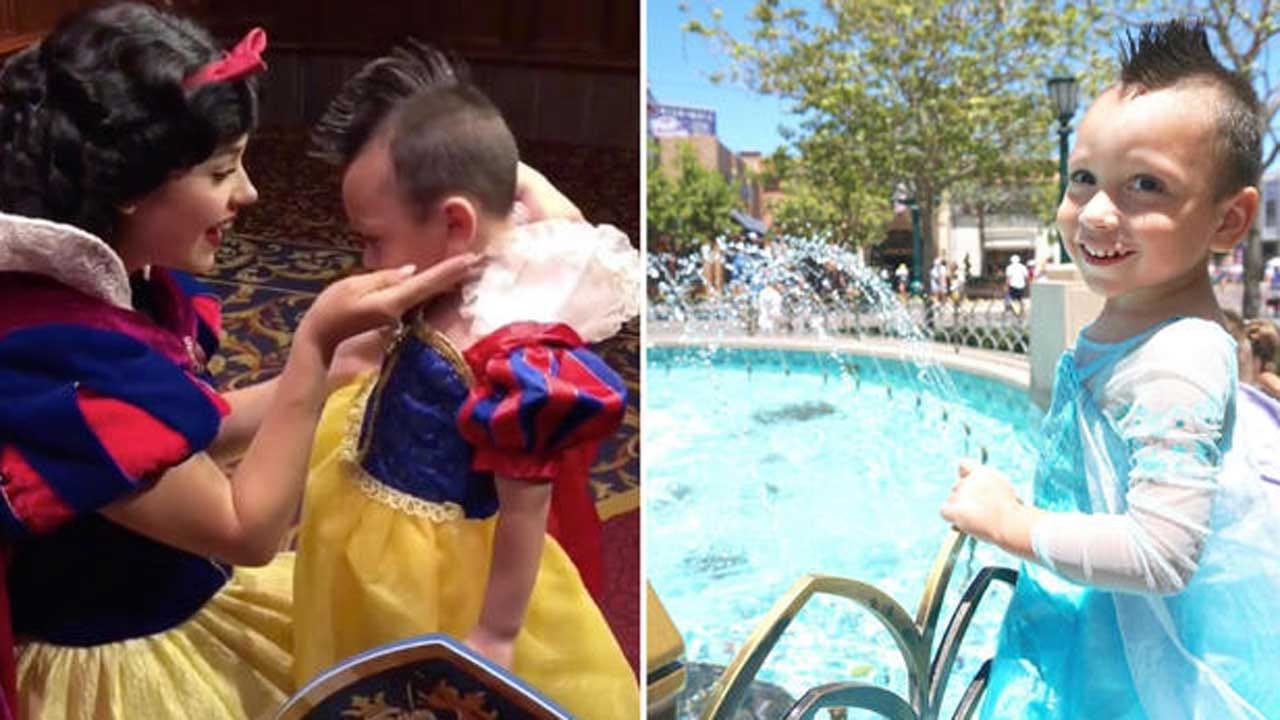 Disney Characters Befriend 4-Year-Old Boy With Autism Who Likes To Wear Dresses