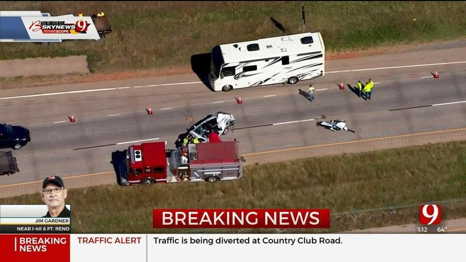 WB I-40 Reopens After Fatality Crash Shuts Down Interstate In Canadian Co.
