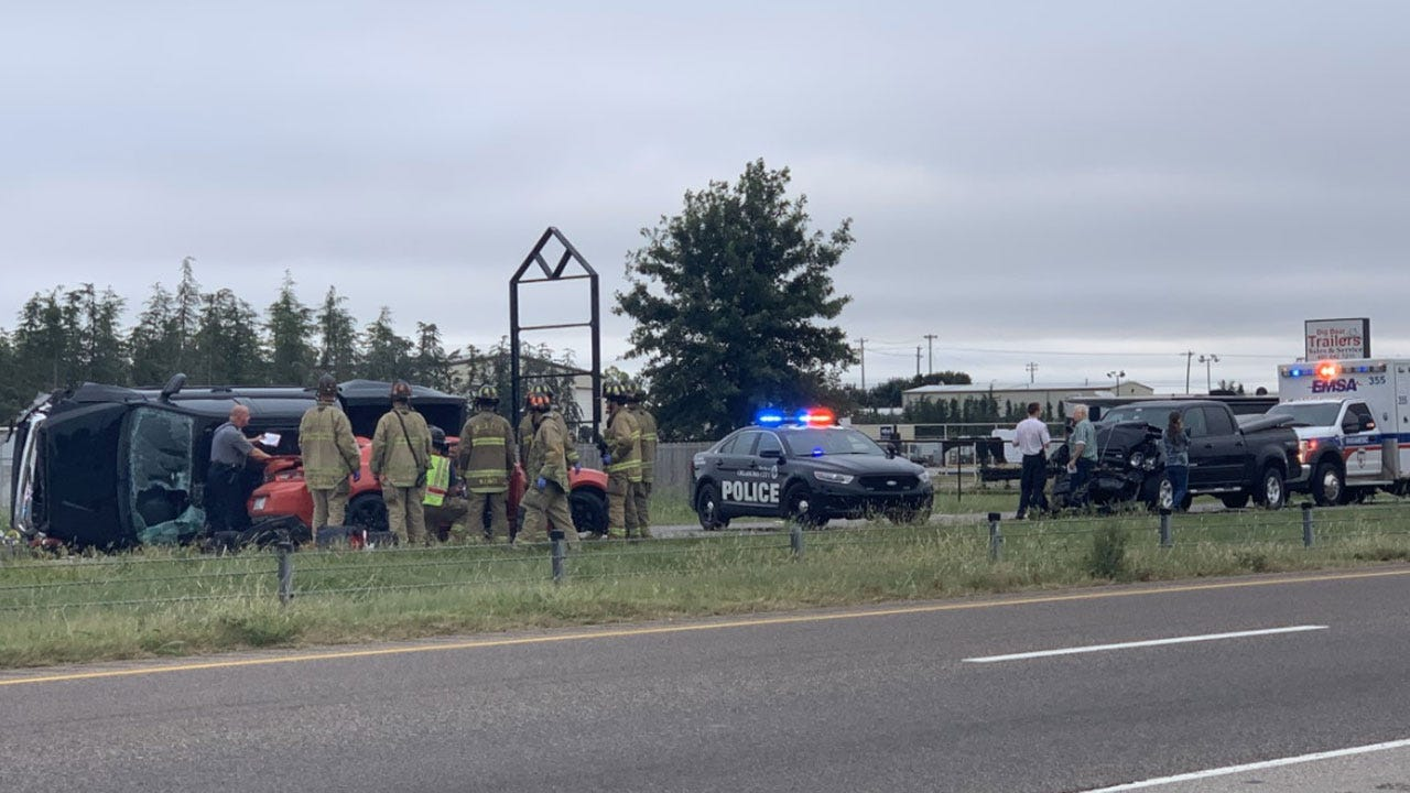 NB Lanes Of I-44 Shut Down Due To Rollover Crash