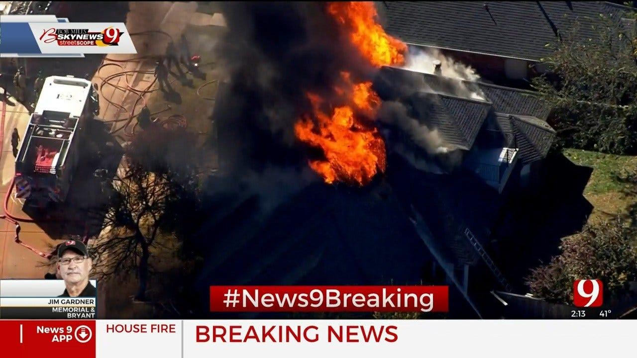 Firefighters Battle Large House Fire In NE OKC