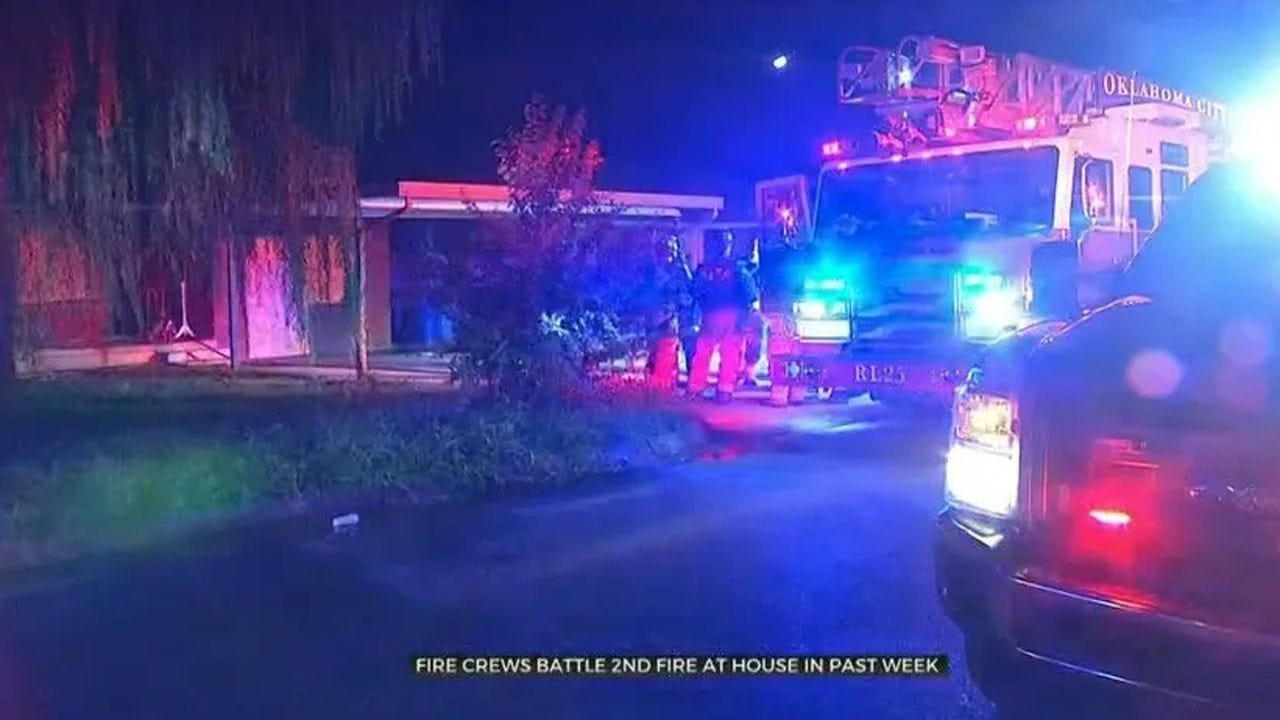 Firefighters Battle Second Fire At SW OKC Home In Past Week