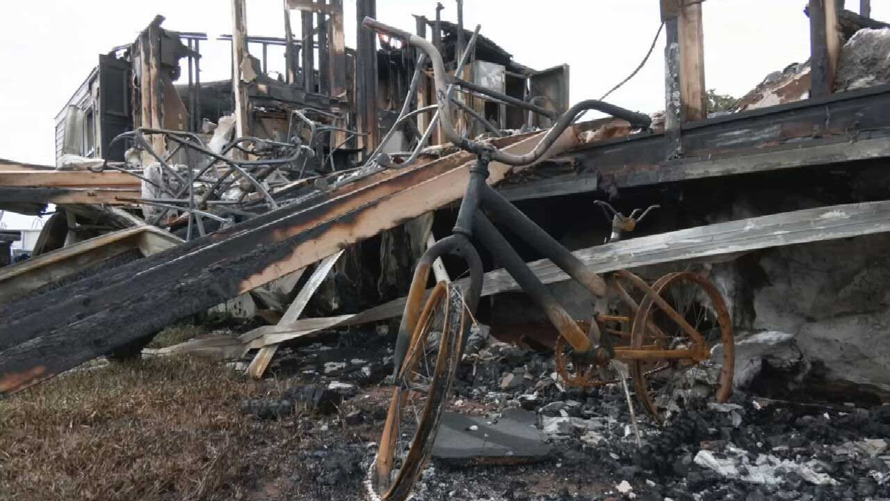 Family Devastated After Losing Everything In Luther Mobile Home Fire