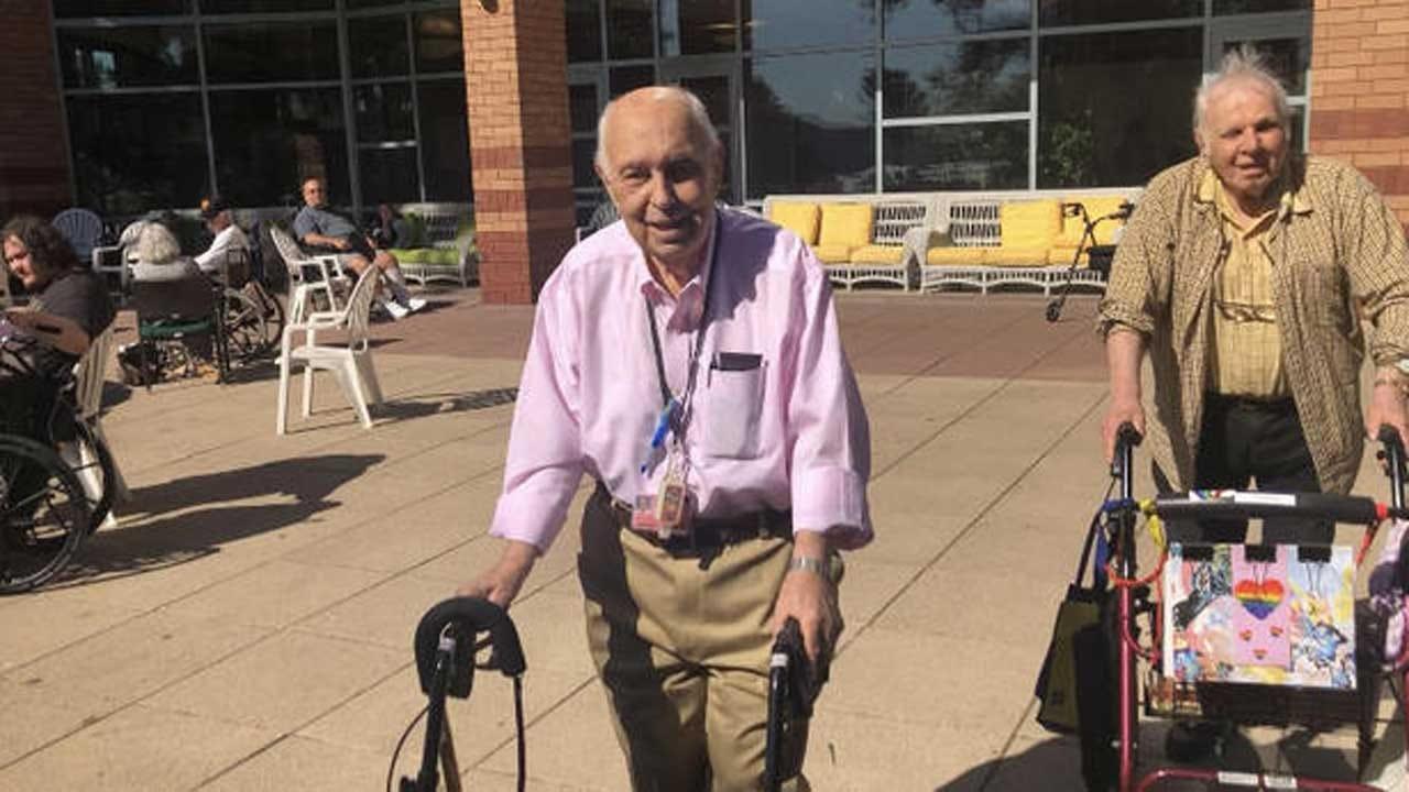 92-Year-Old Man Volunteers At Nursing Home In His Wife's Honor