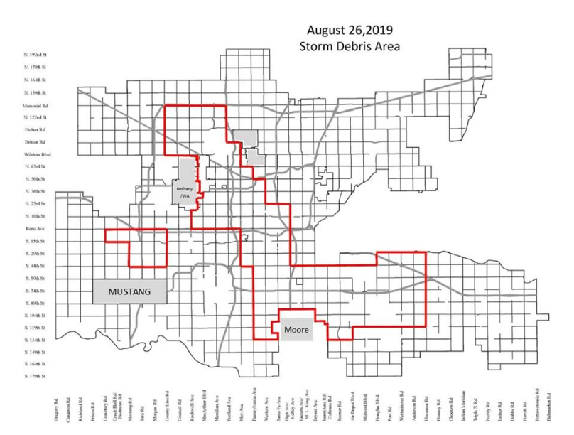 Oklahoma City To Begin Storm Debris Clean-Up