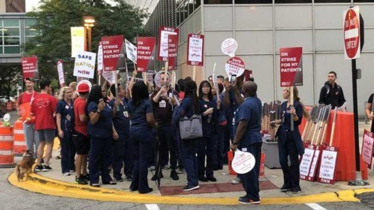 2,200 'Burned Out' Nurses Walk Off The Job In Chicago