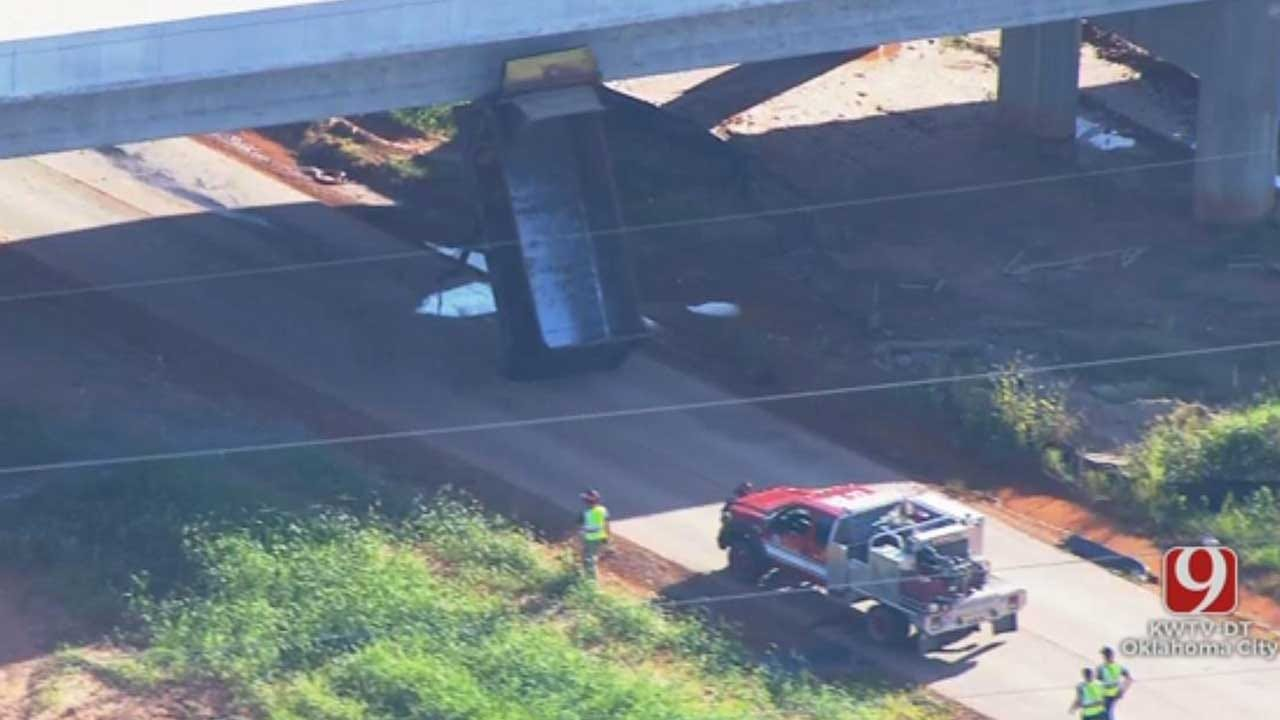 Emergency Crews Respond To Crash Involving Dump Truck
