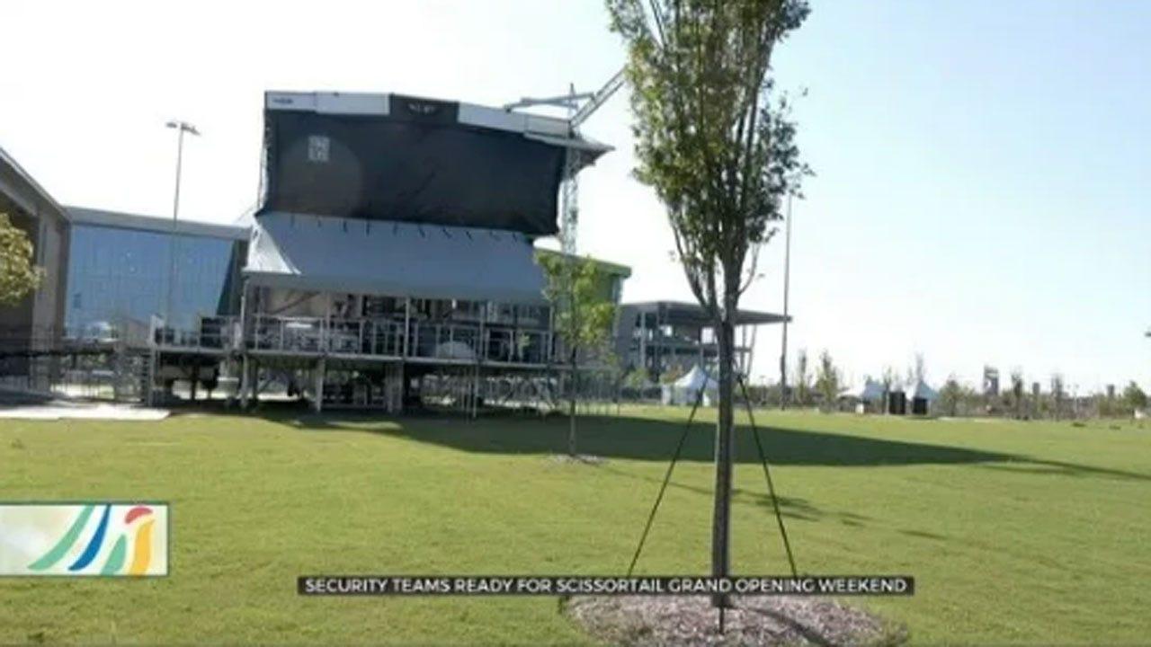 Security Procedures Ahead Of Scissortail Park Grand Opening