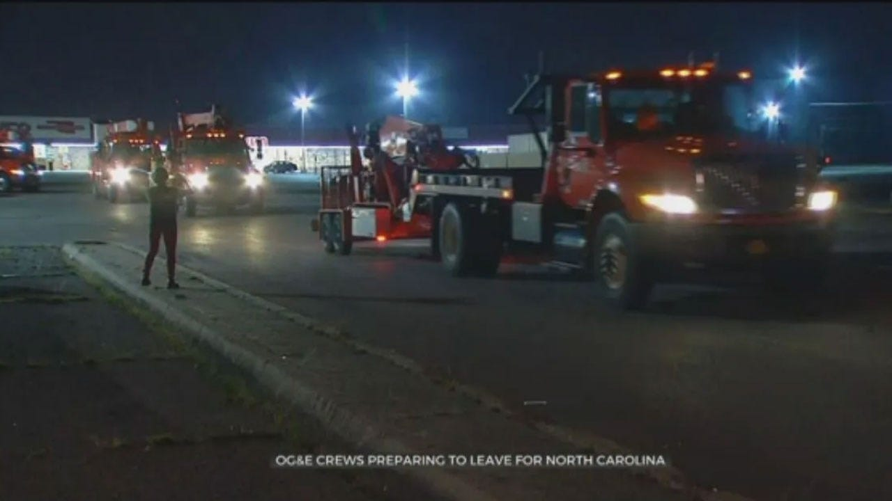 OG&E Crews Head To North Carolina To Assist With Hurricane Dorian Recovery