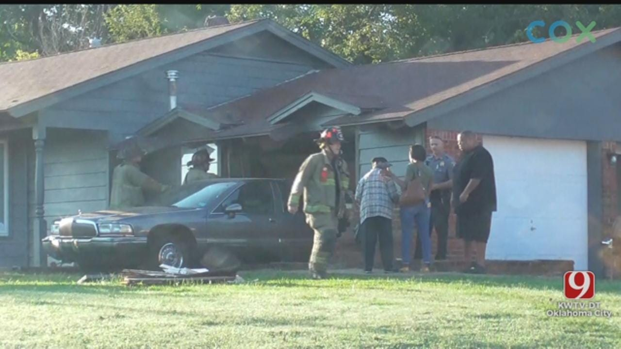 Car Crashes Into House In Northeast Oklahoma City