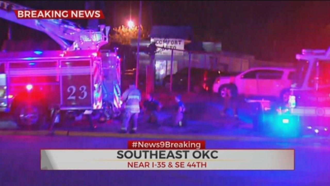 Firefighters Battle Commercial Fire In SE OKC