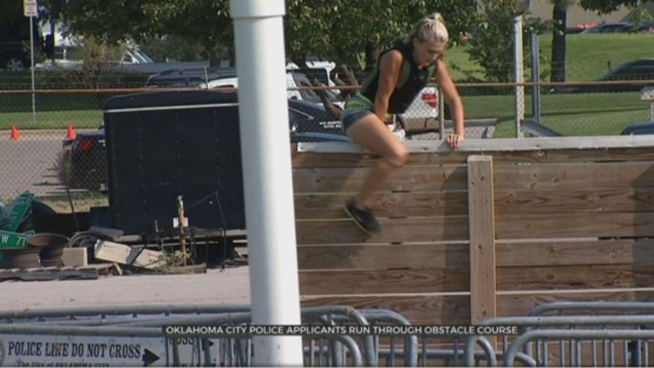 News 9's Ashley Holden Runs OCPD Applicant Obstacle Course
