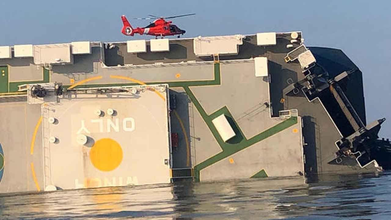 Overturned Cargo Ship's Missing Crew Members Are Alive, Coast Guard Says