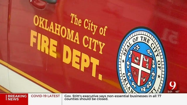 Firefighters Rescue Man Who Falls Into Trench