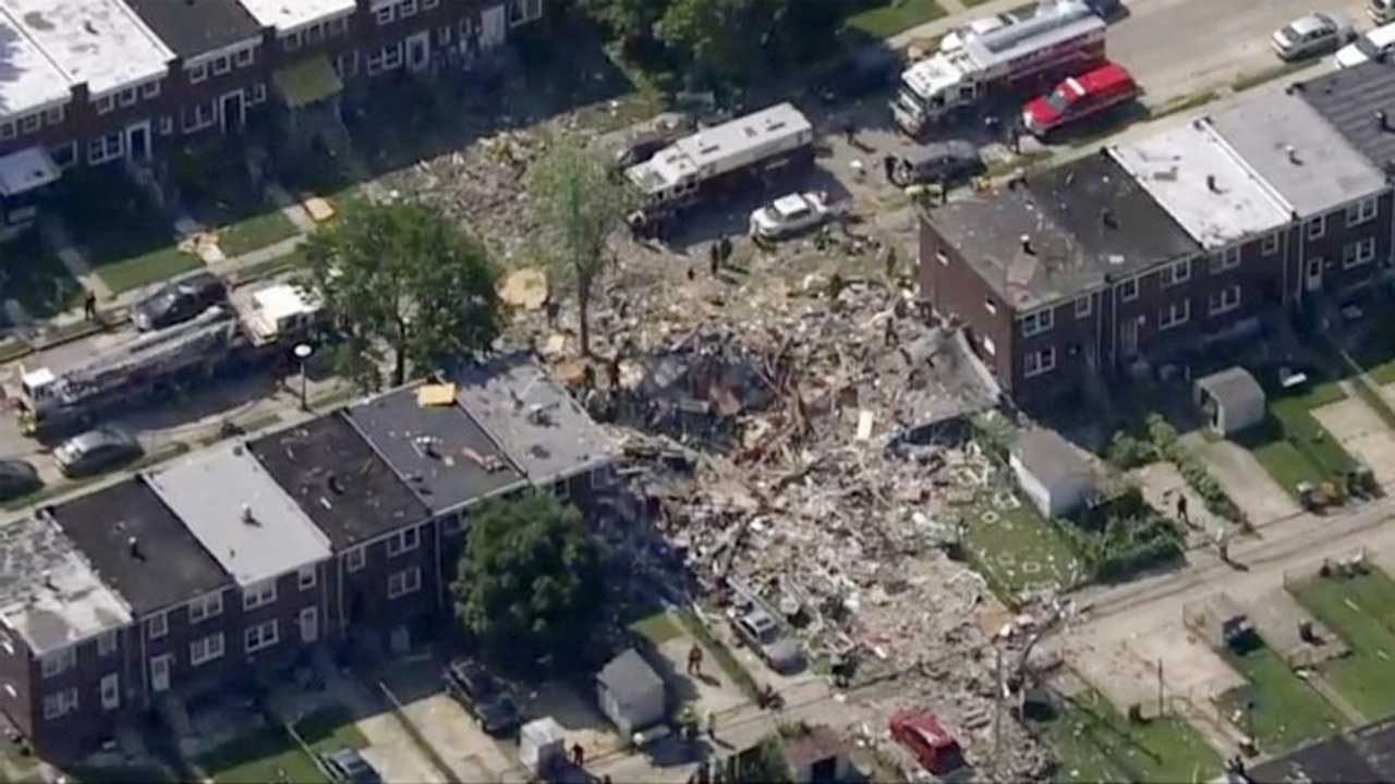 Explosion Levels 3 Baltimore Homes; 1 Dead, 2 Injured