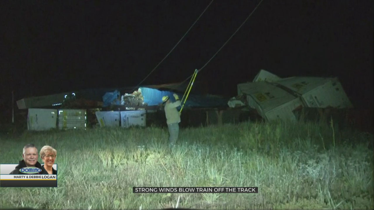 Strong Winds Derail Train In Ellis County