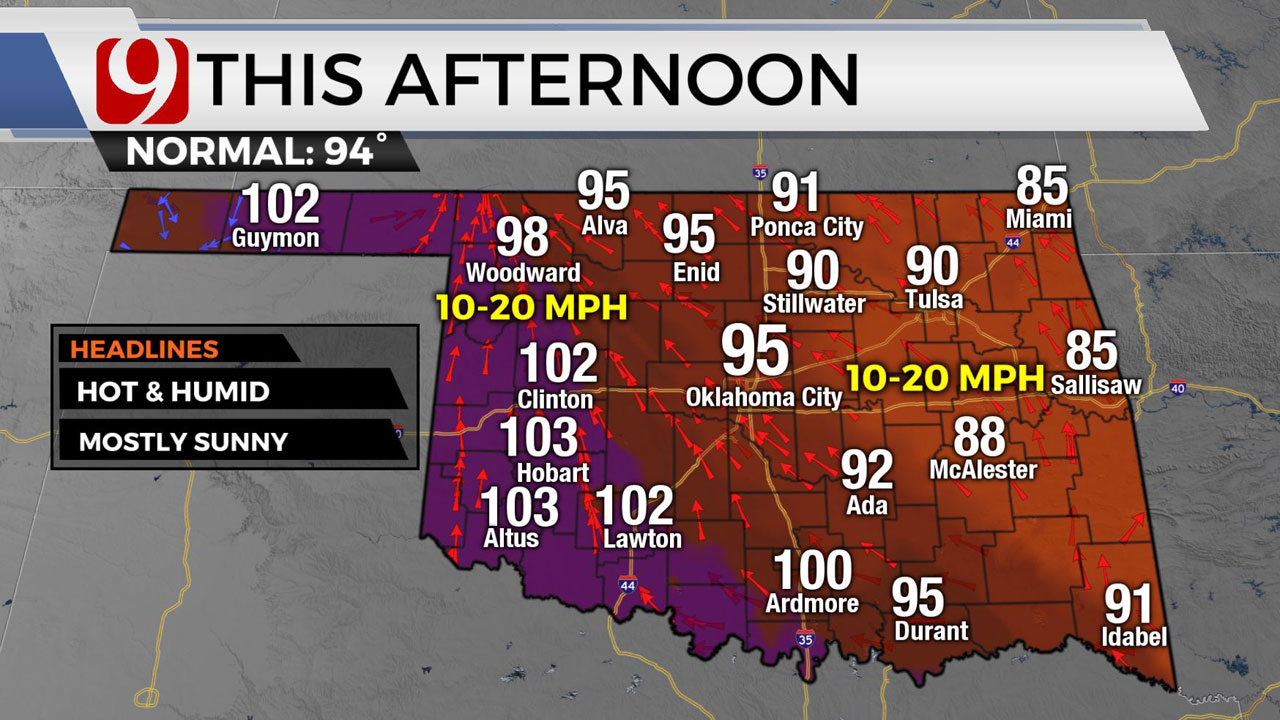 Okla. To See Showers, Storms Before Heat Returns Wednesday