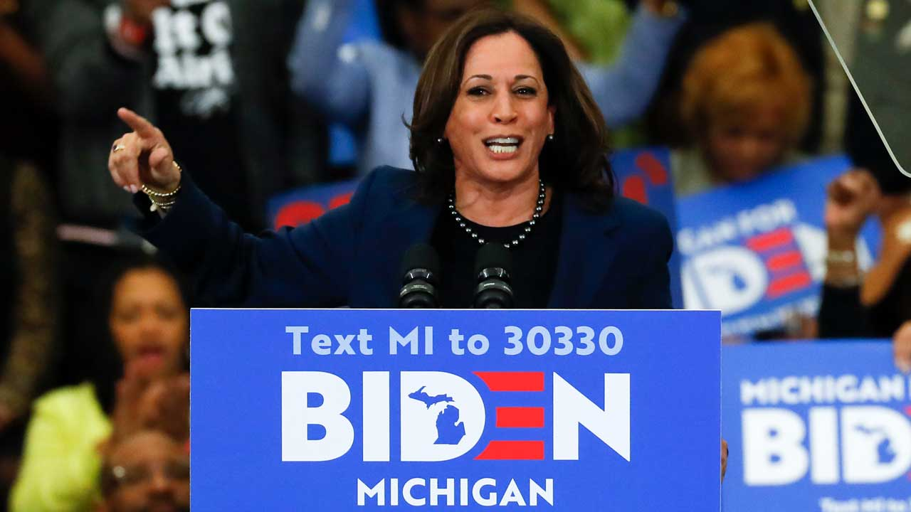 Harris stumping for Biden in Michigan
