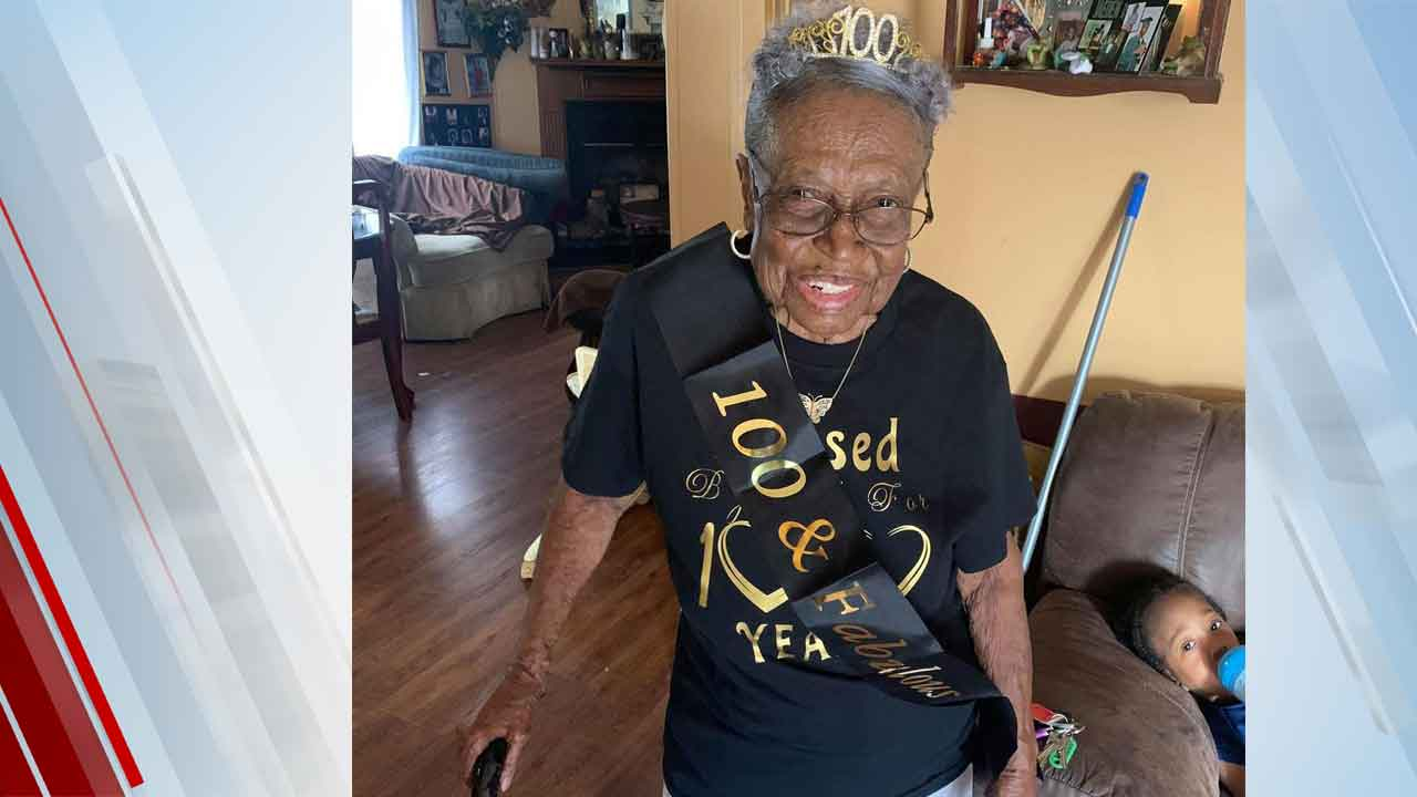 Grandmother With 88 Great-Grandchildren Celebrates 100th Birthday With Drive-Thru Party