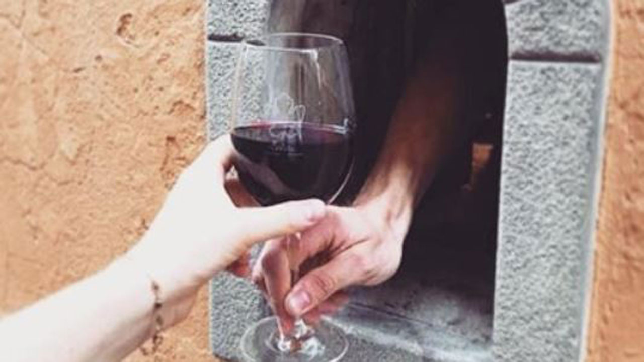 Italy's 'Wine Windows,' Used During The Plague, Reopen For Contactless Food, Wine Sales