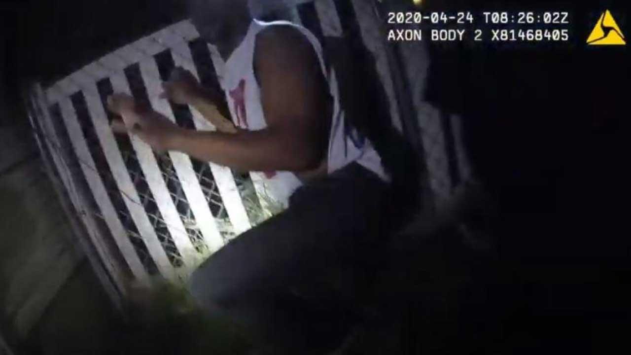 Jeffery Ryans seen in police bodycam footage.