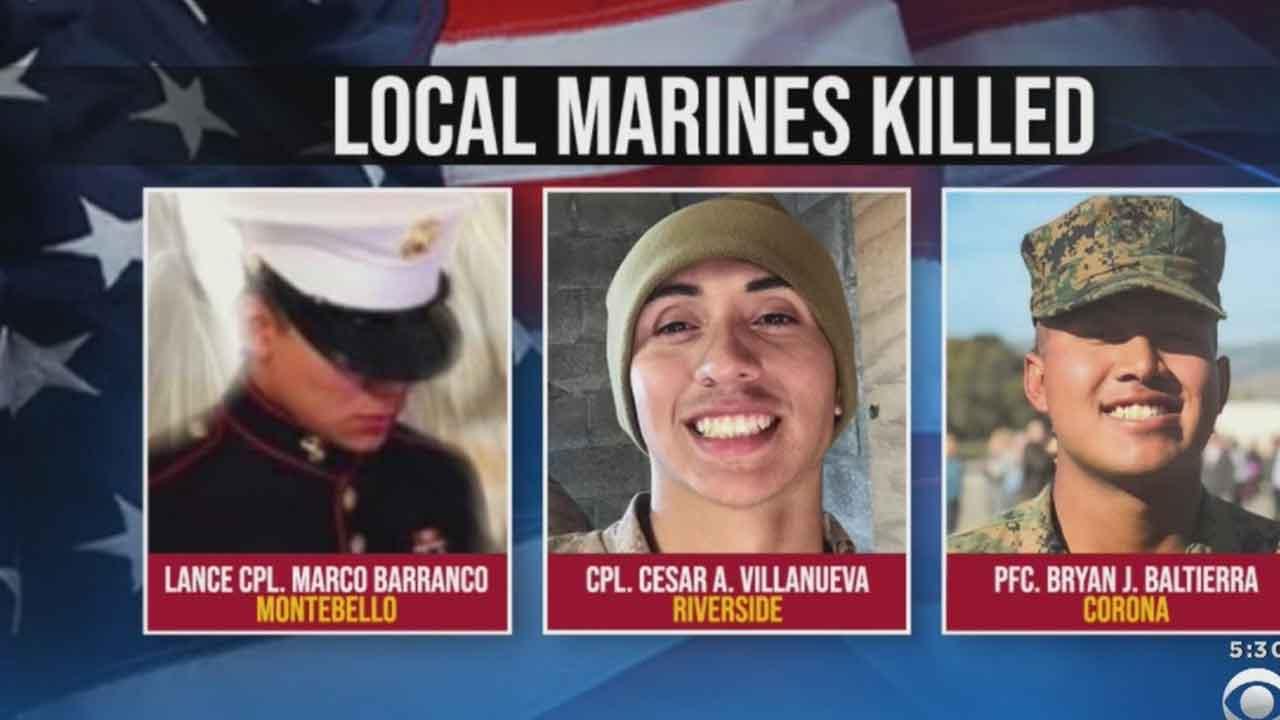 US Marines ID All 9 People Killed In Sea-Tank Sinking