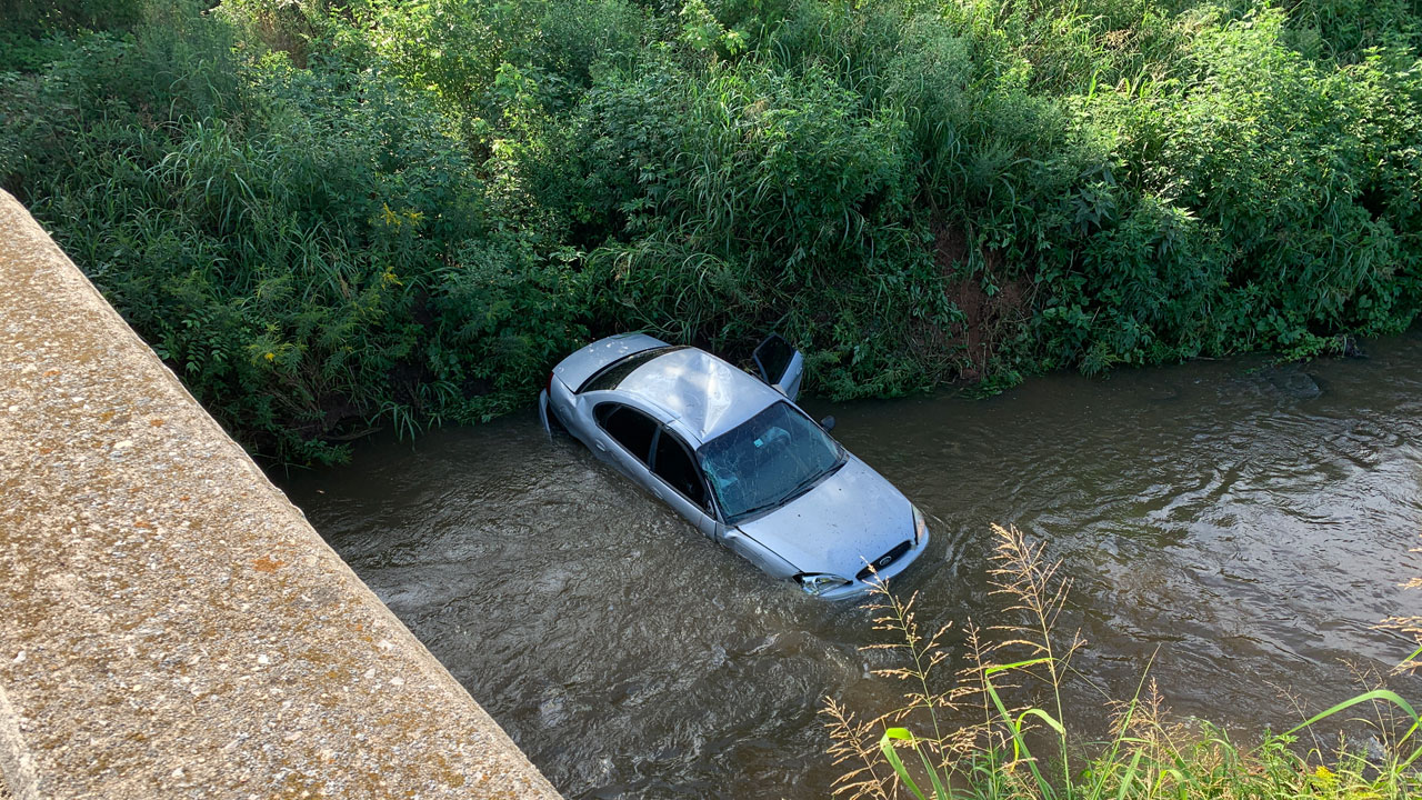 Occupants Injured After Vehicle Goes Into Creek