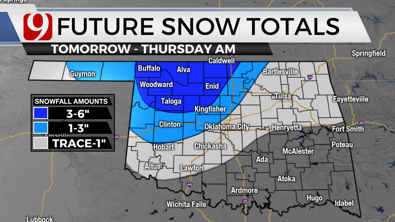 Winter Storm Warning Issued For Parts Of NW Oklahoma