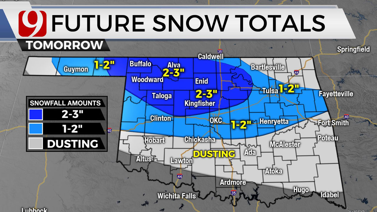 Okla. To See  Second Round Of Winter Weather