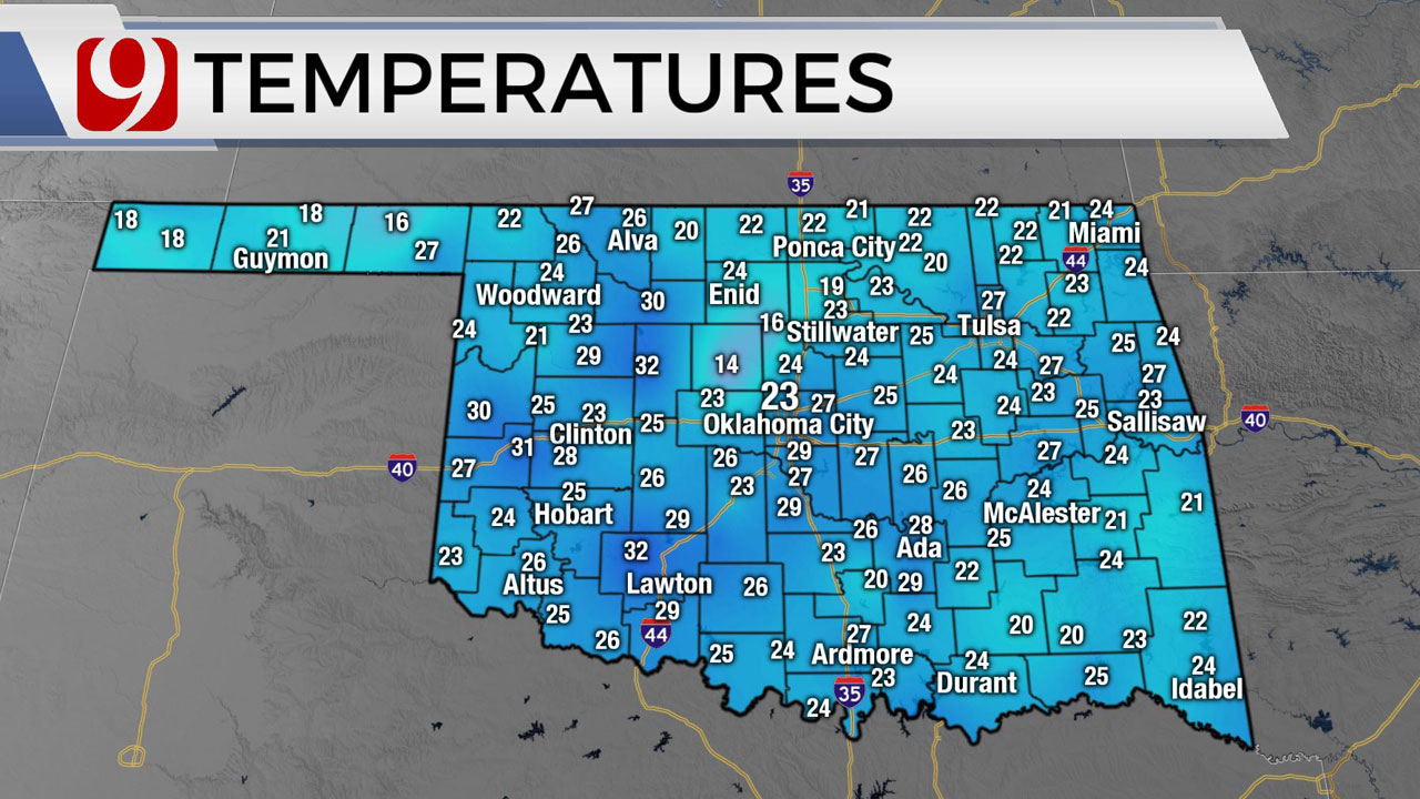 Okla. Sees Chilly Thursday; High Winds, Showers Possible Friday