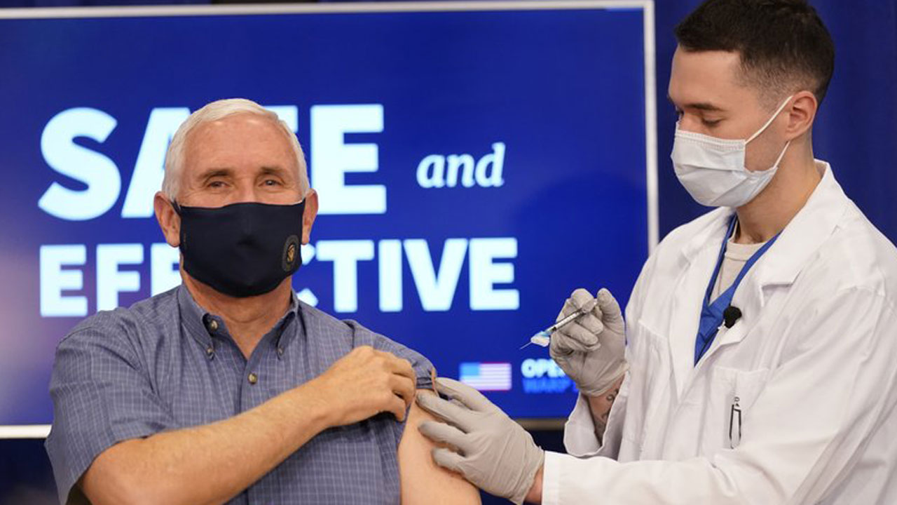 VP Pence, Wife Karen, Get COVID-19 Vaccine Injections