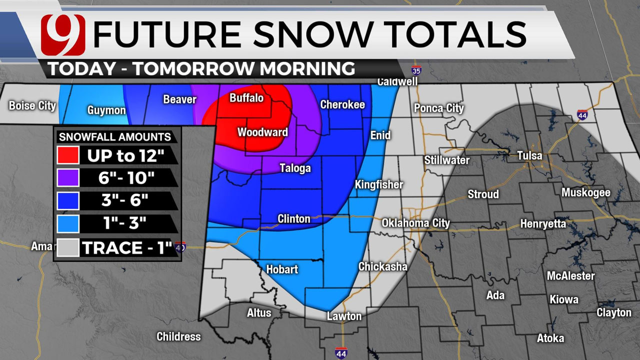 Major Winter Storm Arrives Bringing Snow, Wintry Mix To Parts Of Okla.