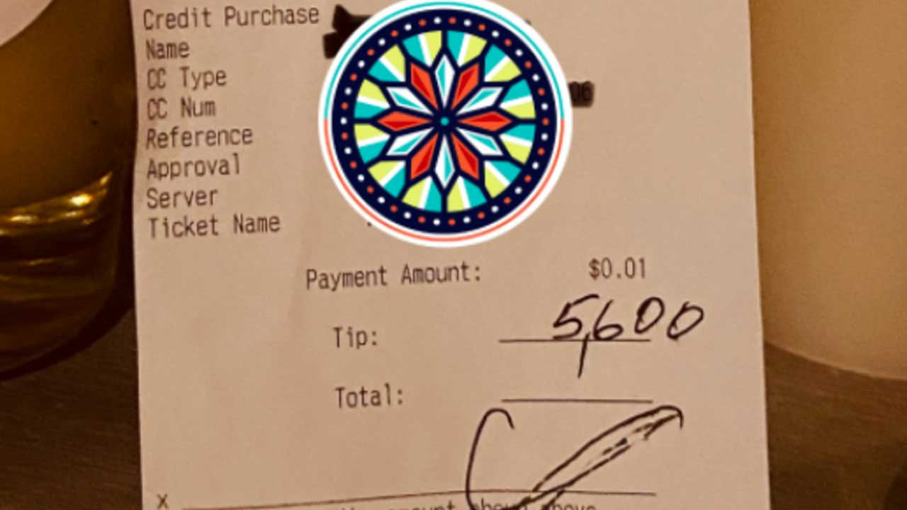 Guest Leaves $5,600 Tip For Ohio Restaurant Staff — Just In Time For The Holidays
