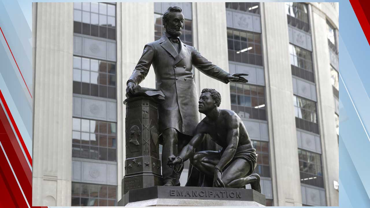 Statue Of Slave Kneeling Before Abraham Lincoln Removed In Boston