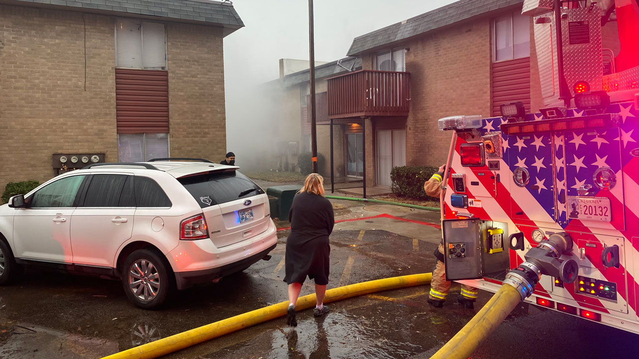 Multiple Alarms Sounded For NW OKC Apartment Fire