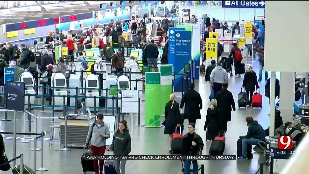 AAA Holds TSA Pre-Check Enrollment Through Thursday In Edmond