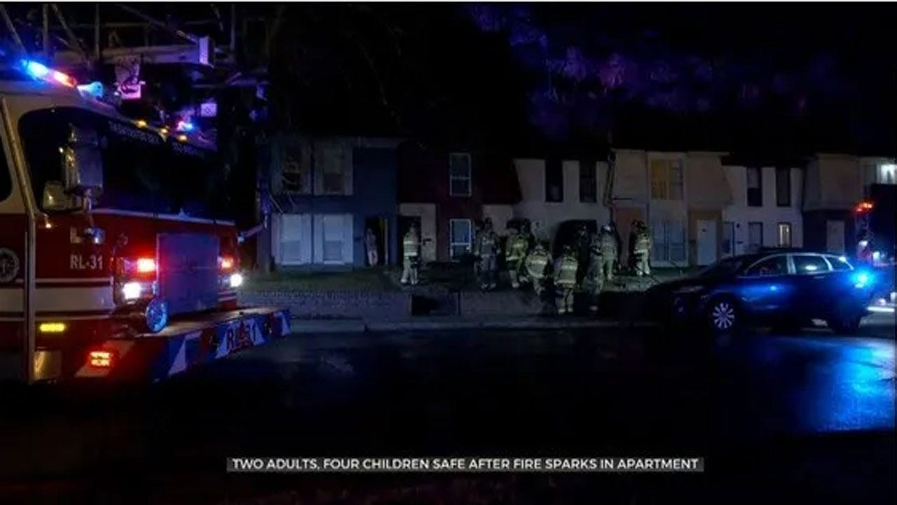 2 Adults, 4 Children Safe After Fire Breaks Out At NW OKC Apartment