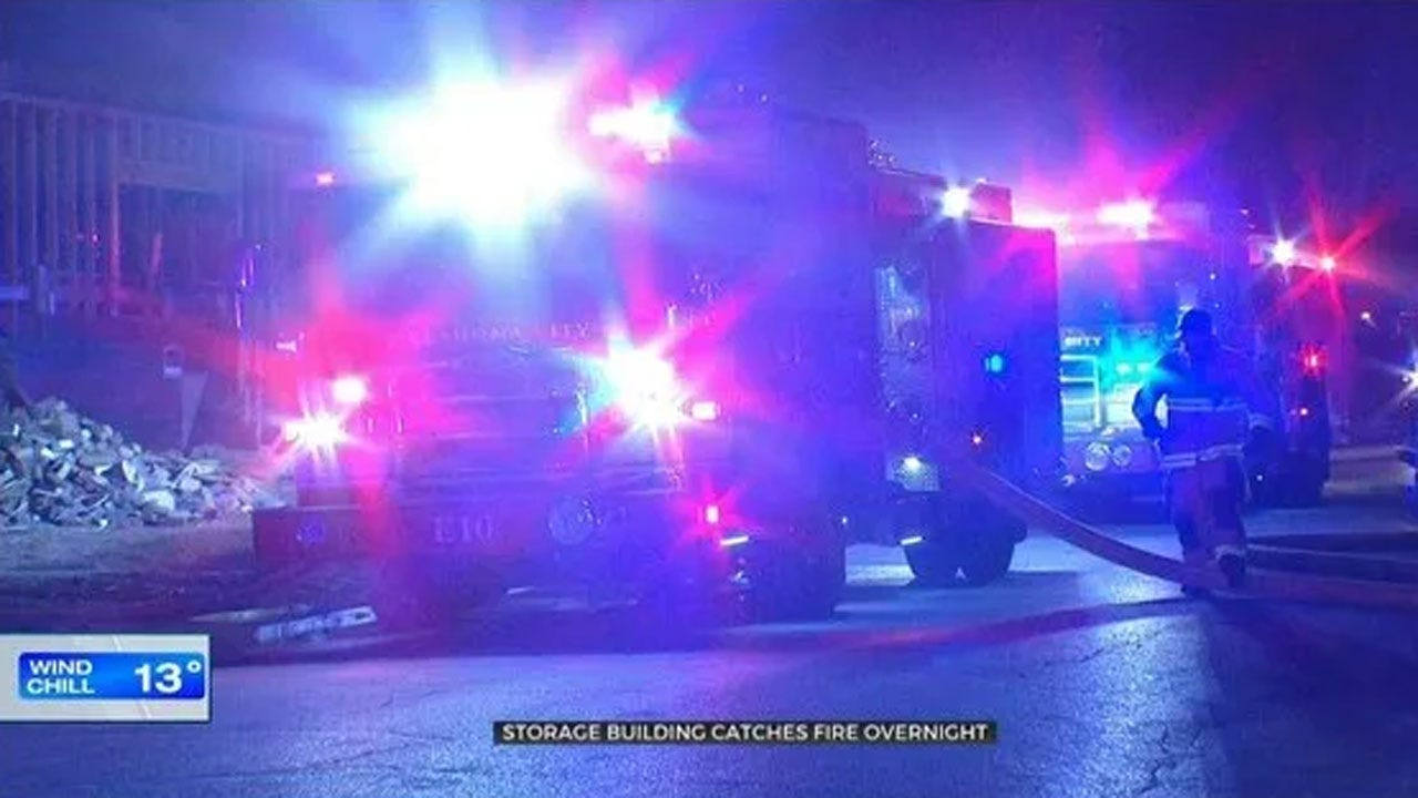 Firefighters Investigate Cause Of Overnight NW OKC Storage Building Fire