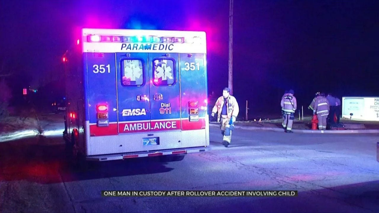 1 Arrested After Rollover Crash Involving Child In NE OKC