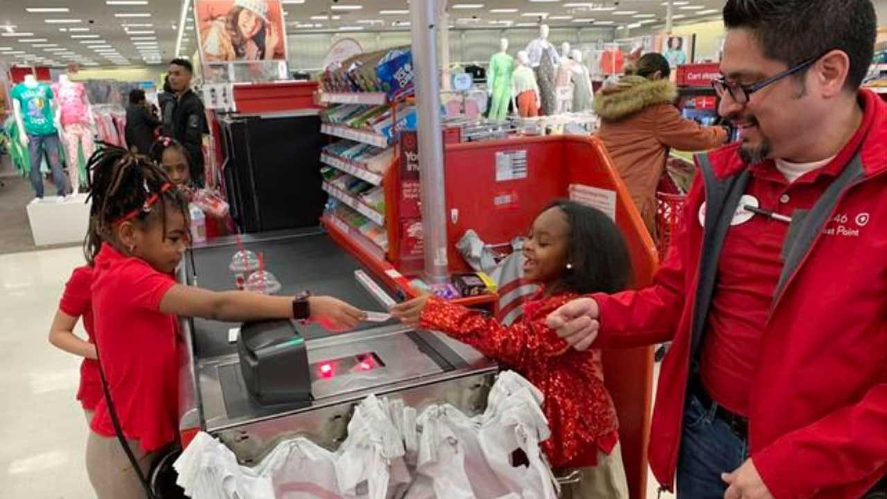 Little Girl Celebrates 8th Birthday At Target