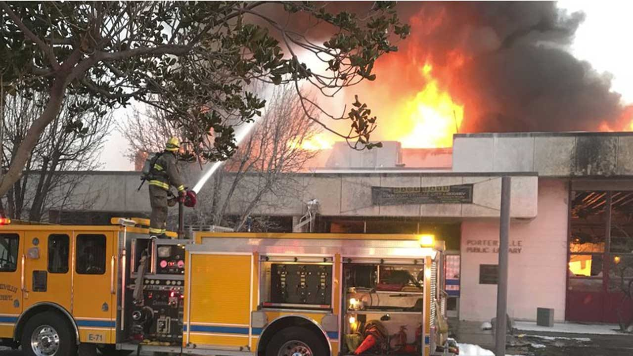 2 Teens Arrested In Library Fire That Killed Firefighter
