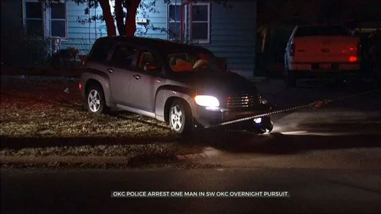 1 Arrested Following Overnight Chase In SW OKC