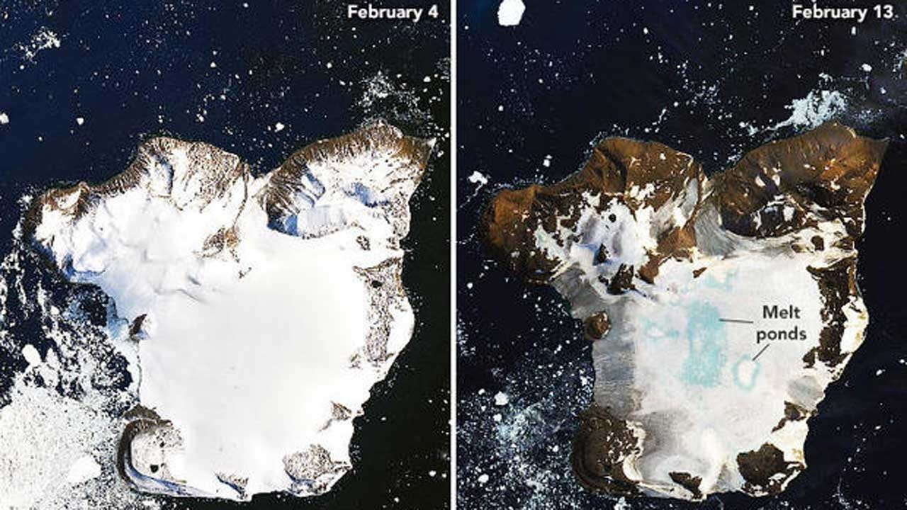 NASA Satellite Images Reveal Dramatic Melting In Antarctica After Record Heat Wave