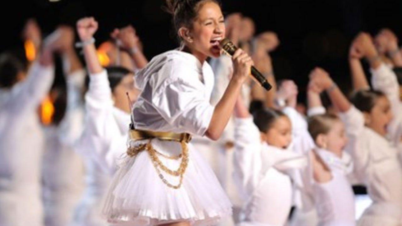Jennifer Lopez's Daughter Emme Shines During Super Bowl LIV Halftime Show